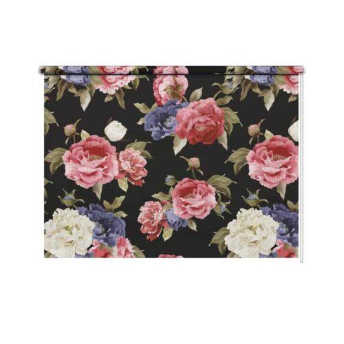 Rolgordijn Botanische rozen patroon 2