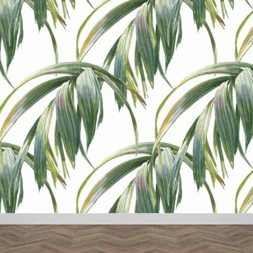 Fotobehang Tropische bladeren patroon 9
