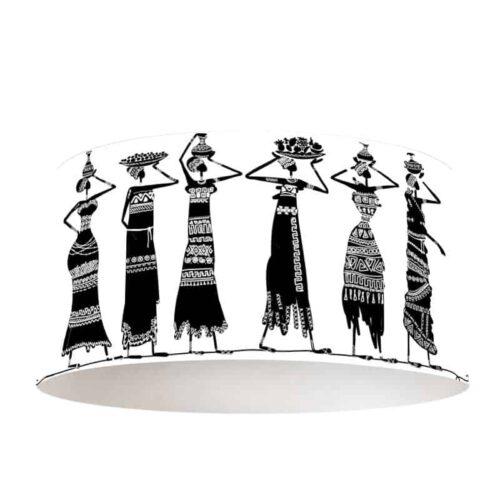 Lampenkap Afrikaanse vrouwen