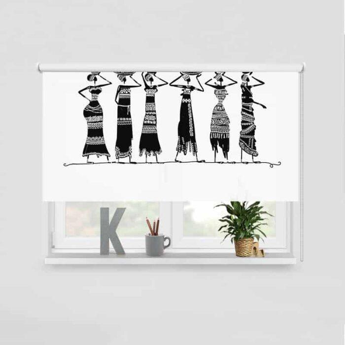 Rolgordijn Afrikaanse vrouwen