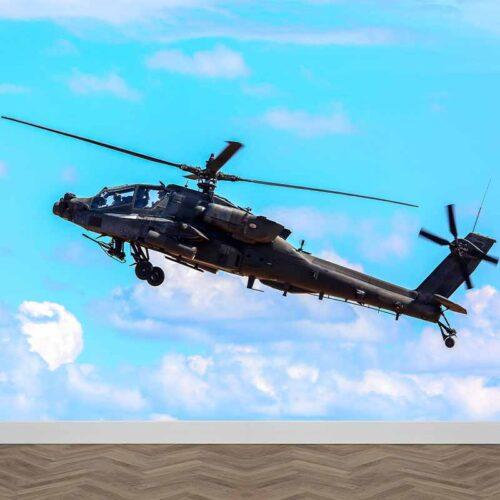 Fotobehang Apache helikopter