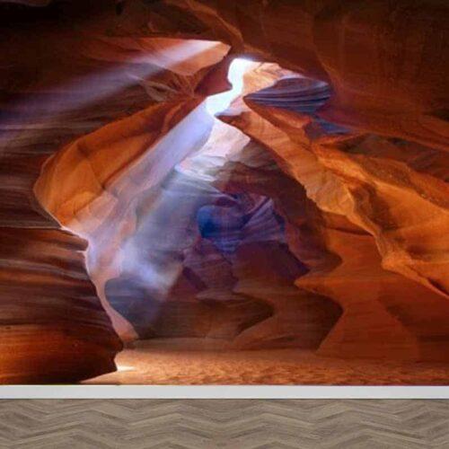 Fotobehang Kloof in woestijn