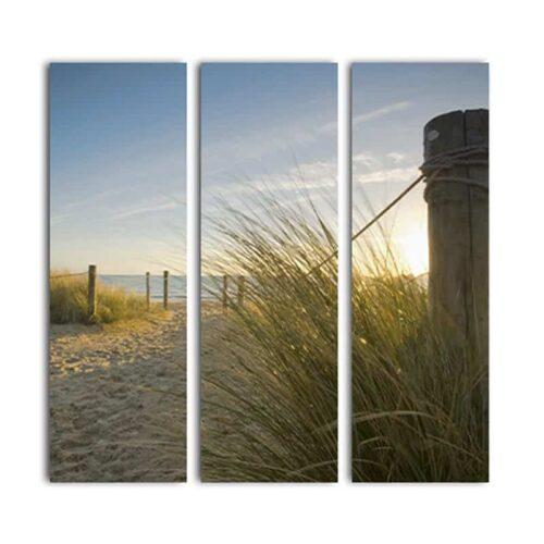 Drieluik canvas strandovergang