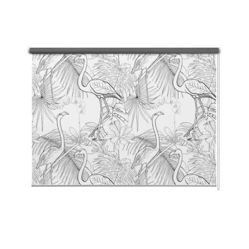 Botanisch flamingo patroon 2