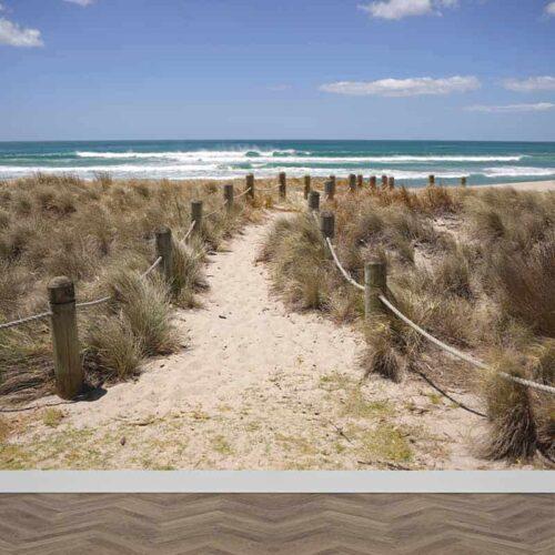 Fotobehang Wandelen op het strand