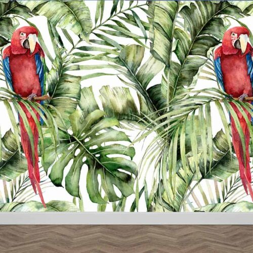 Fotobehang Botanisch jungle patroon 11