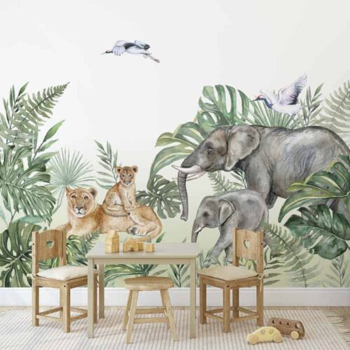 Fotobehang op safari