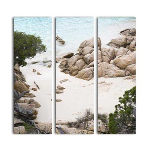 Drieluik canvas Mediterraans strand
