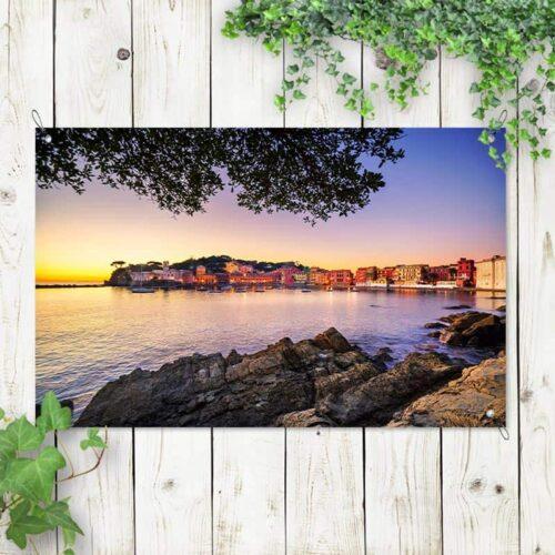 Tuinposter Heerlijke zomeravond aan Italiaanse kust