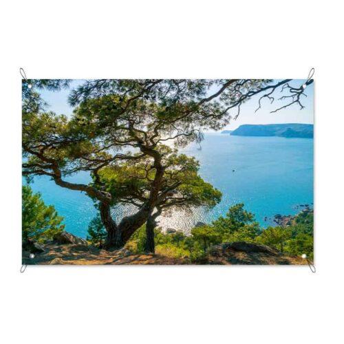tuinposter Zeezicht Middellandse Zee