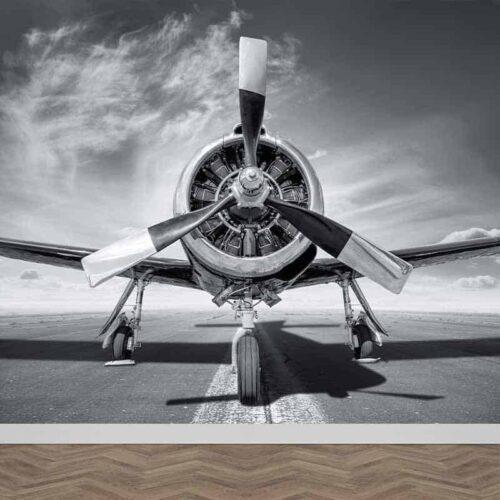 Fotobehang Propeller vliegtuig close up