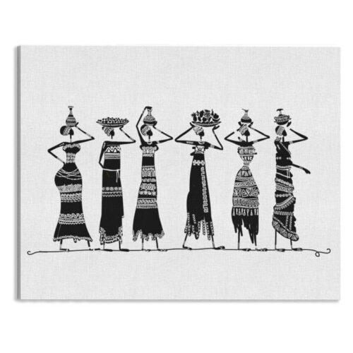 Canvas Afrikaanse vrouwen