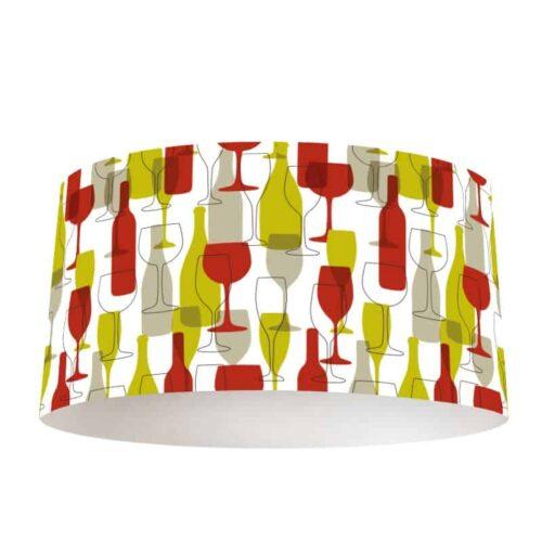 Lampenkap Wijnflessen en glazen illustratie