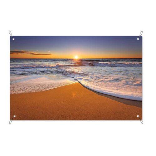Tuinposter Zonsondergang aan kalme zee