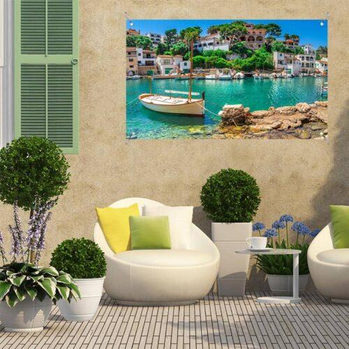 Tuinposter Mediterraans havengezicht