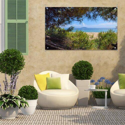 Tuinposter Strand Middellandse Zee