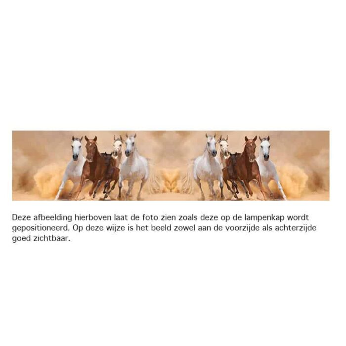 Lampenkap Galopperende paarden met veulen