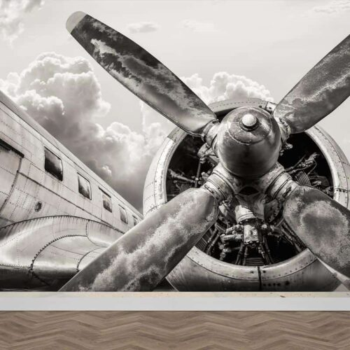 Fotobehang Propeller vliegtuig detail