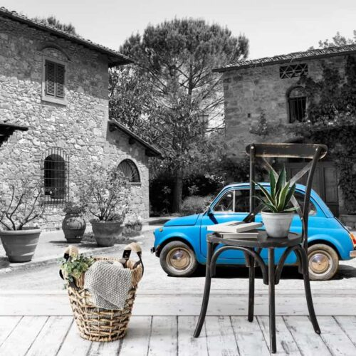 Fotobehang Fiat 500 Toscane