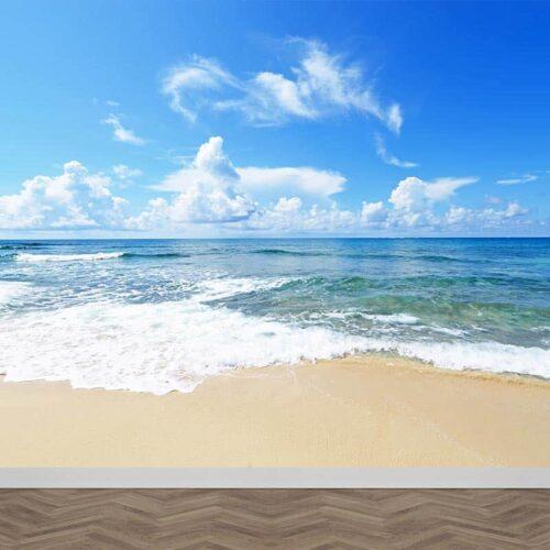 Fotobehang Verlaten strand