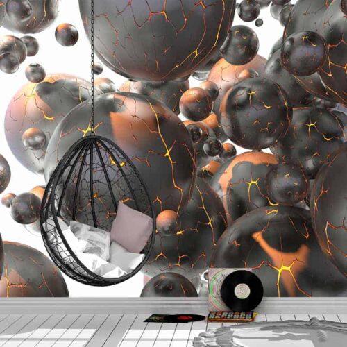 Fotobehang Vulkanische 3d fantasie