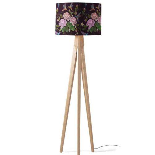 Lampenkap kolibri bloemen patroon