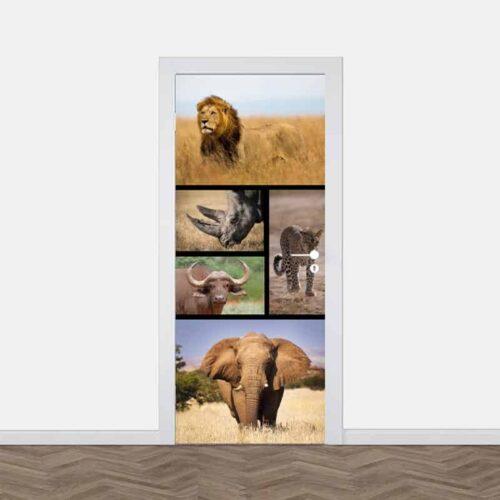 deursticker big five optie 1