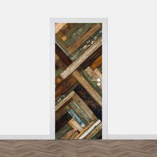 Deursticker Houten planken divers
