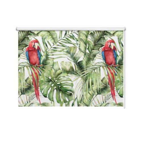 Rolgordijn Botanische jungle patroon 11