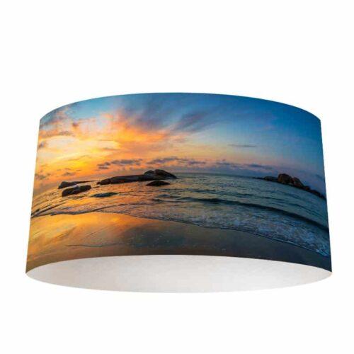 Lampenkap Zonsondergang aan zee