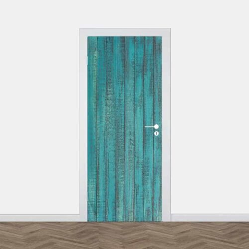 Deursticker Houten planken patroon 15