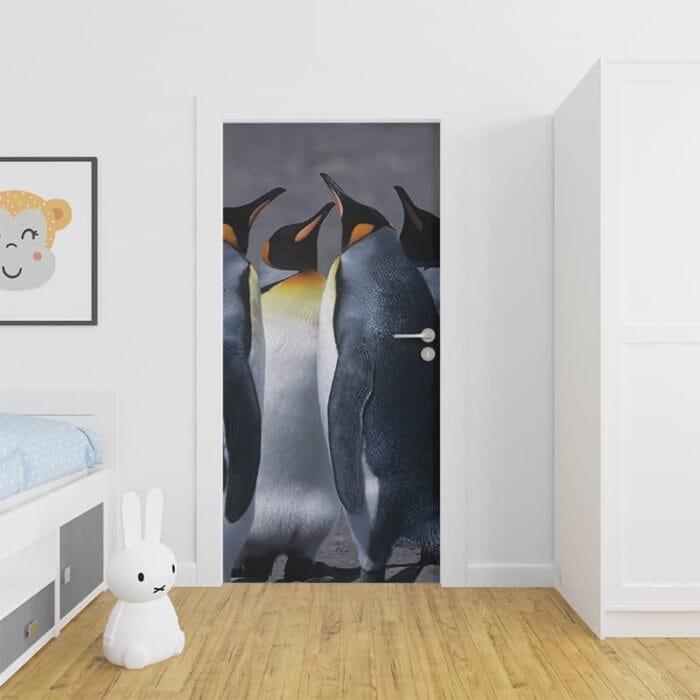 Deursticker Pinguin groep