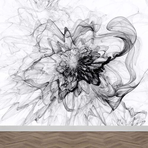 Fotobehang Abstract zwart wit